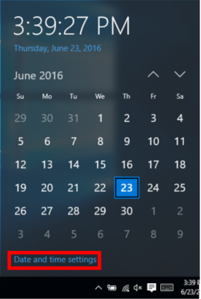 Windows Date and Time Zone Settings | IT Services