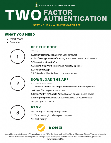 Setting Up 2 factor authentication | IT Services