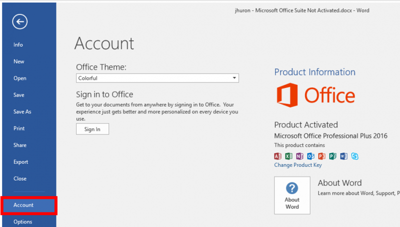 ms office activation