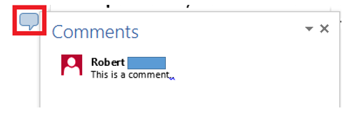 how to delete a comment on word