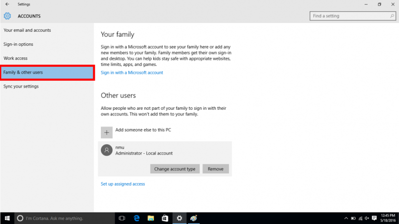 Add or Change a Windows User Account   IT Services