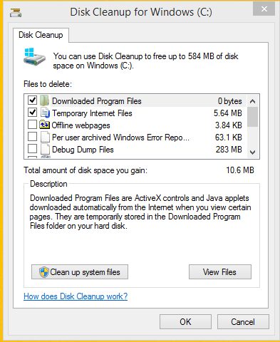 Using Disk Cleanup It Services