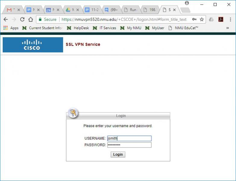 Cisco vpn start menu