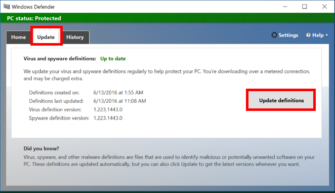 Scanning With Windows Defender | IT Services