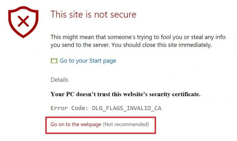 Adding a Security Exception to Your Browser | IT Services