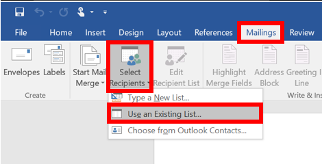 Formatting Word Mail Merge Values in Excel | IT Services