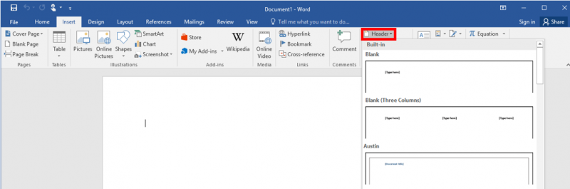 Inserting Objects in Word | IT Services