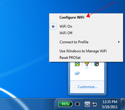 how to connect with intel pro wireless windows xp