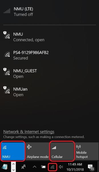 Connecting to NMU LTE | IT Services