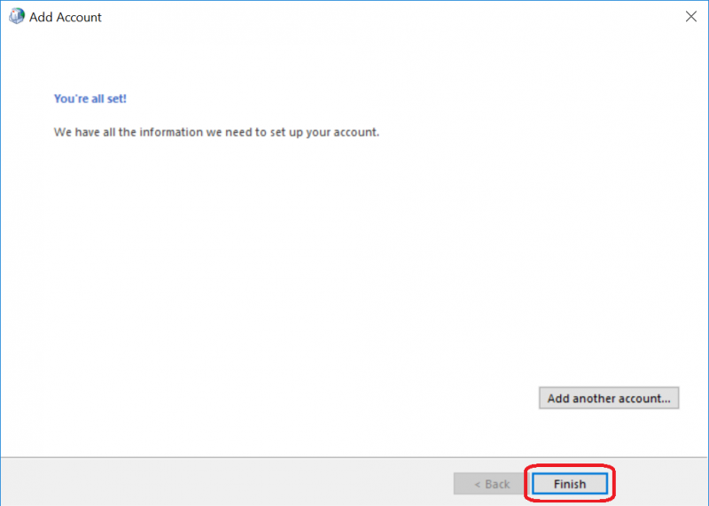 how to connect a gmail account in outlook