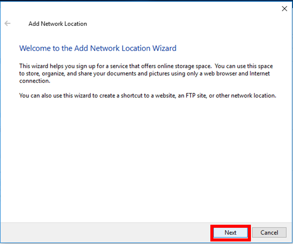 Adding a Network Location in Windows | IT Services