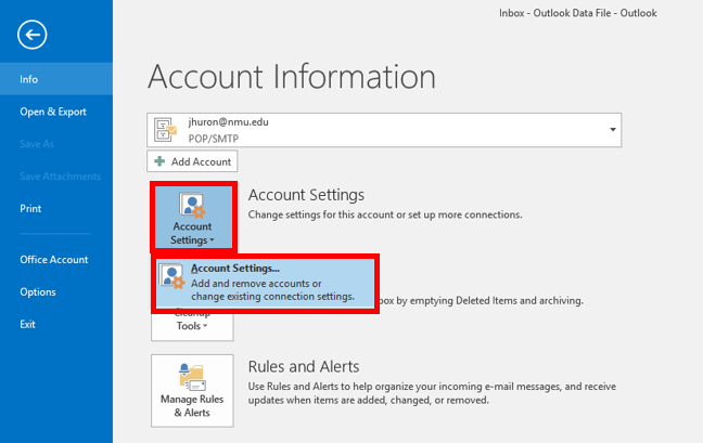 Outlook is prompting for a UserID and/or Password | IT Services