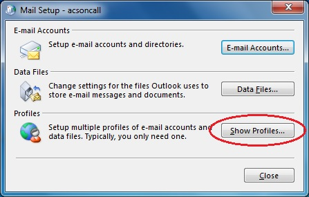 Outlook 2013 Mail control panel