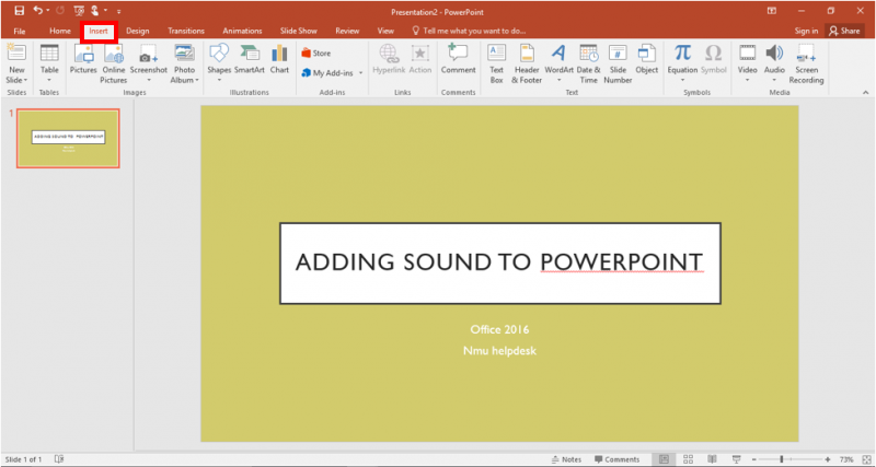 Adding Audio in a PowerPoint Presentation | IT Services
