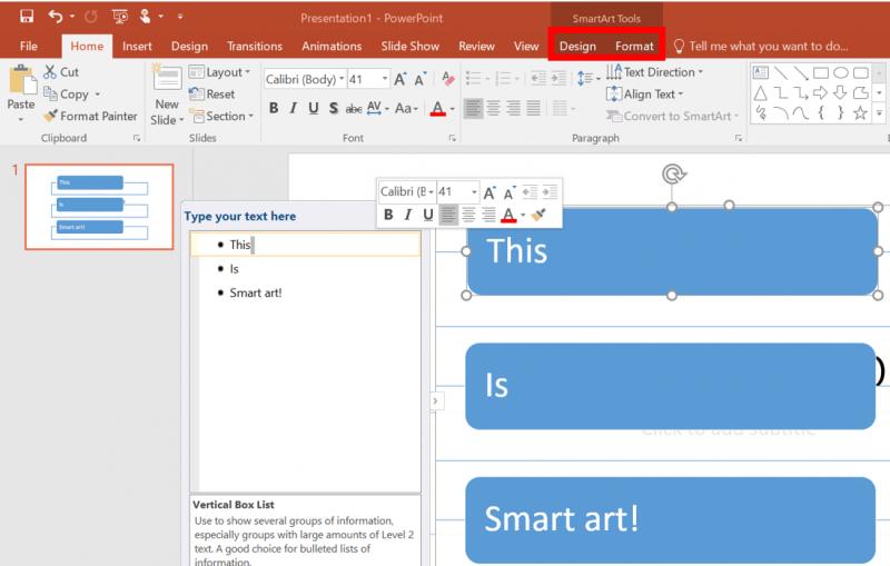 adding smartart in powerpoint it services