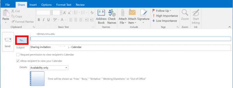 Sharing your Calendar in Outlook | IT Services