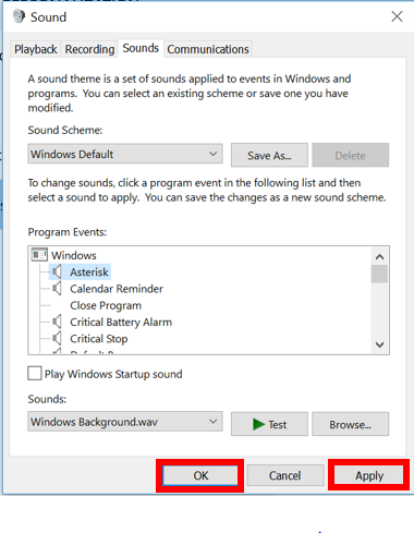 Changing the Windows Sound Theme | IT Services