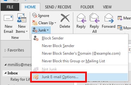 Outlook Refuses Sent Mail | IT Services