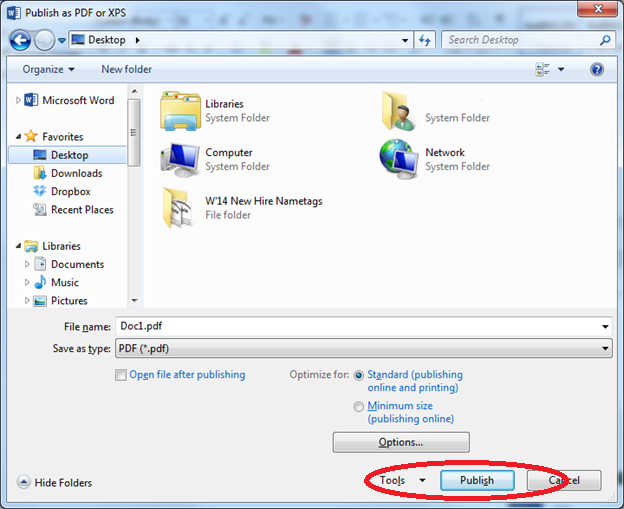 Saving and Exporting a Word document as a PDF file | IT Services
