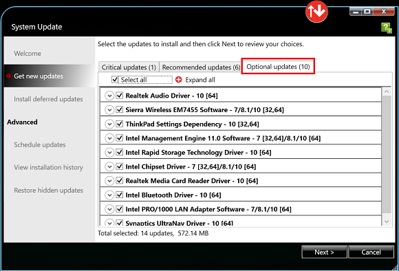 Using the Lenovo System Update Tool | IT Services