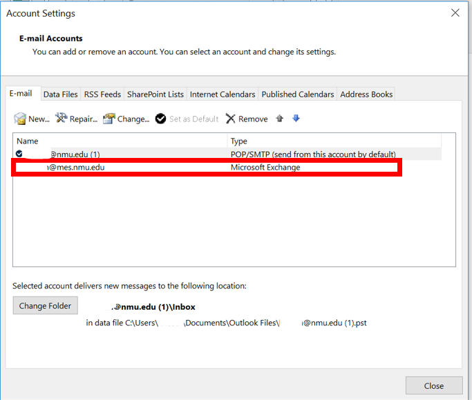 Troubleshooting an Existing Exchange Account in Outlook | IT Services