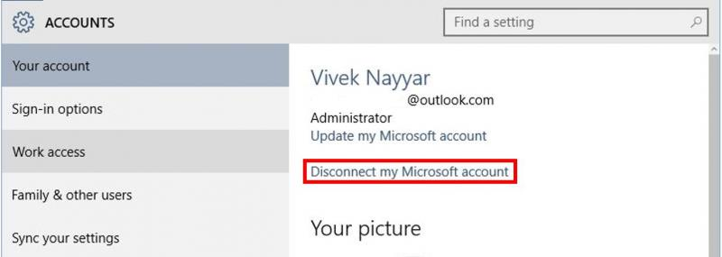 Disconnect a Microsoft Account from your Computer | IT Services
